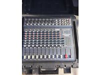 Powered mixer in carry case