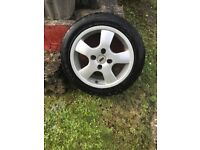 4 part worn tyres with alloys