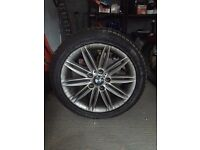 BMW M Sport 1 series 17 inch wheels with winter tyres set of 4 - good condition