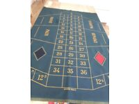 Vintage professional standard roulette table baize cloth
