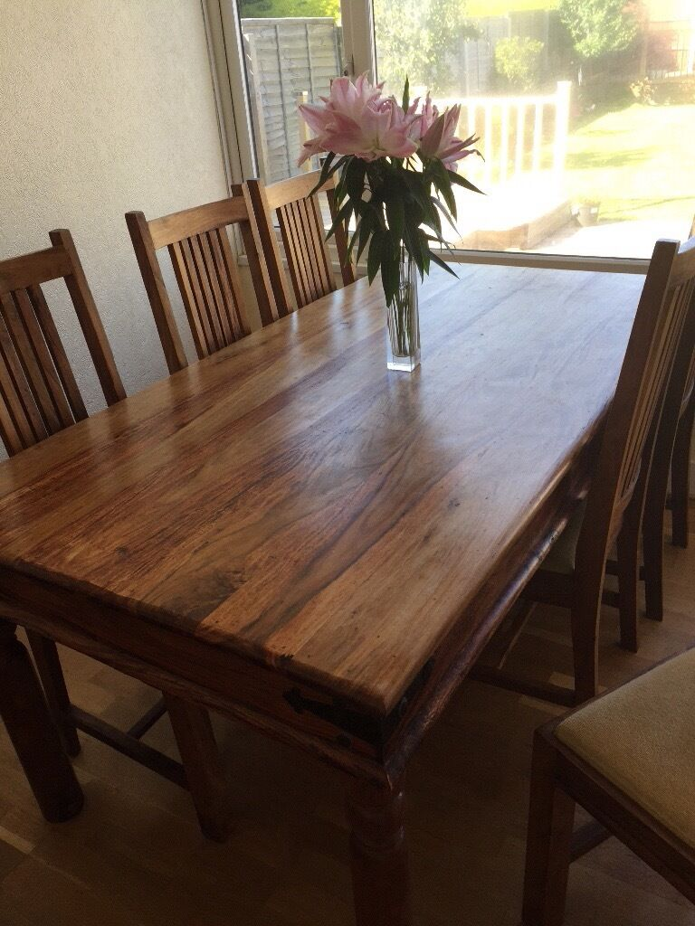 John Lewis Maharani Dining Table And 4 Chairs