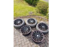 17x7 Team Dynamics Monza RS Alloy Wheels Set Of 5 multifit 4x108 4x100 Ford Peugeot Citroen