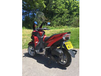 aha Tricity 125cc - in Red, with Touring screen for greater riding comfort !