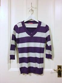 BUNDLE - 2 striped knitwear jumpers for just £5