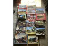 Train puzzles 18x500 pieces jigsaw