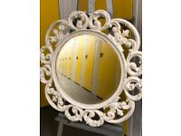 LARGE CHIC ROUND WALL MIRROR