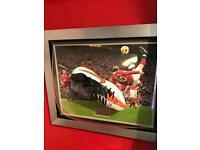 Wayne Rooney man united framed boot