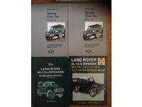 Land rover books genuine workshop manuals