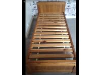 2 X wooden beds great condition very sturdy