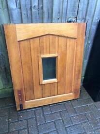 Barn-style wooden door