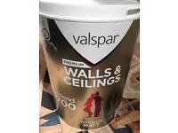 Valspar Premium Walls&Ceilings Paint - Interior Matt - Colour Baby Blues - 5 L