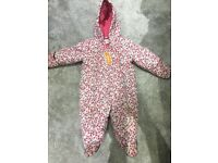 Baby girl bluezoo debenhams snowsuit 3-6 months brand new with tags pink flower
