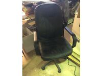 Leather office chair second hand