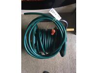 Garden hose on reel