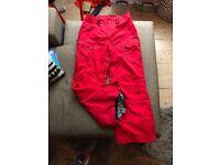 Ladies Bonfire Radiant Snowboard Pants Size M, Red