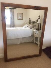 Rustic Large wood mirror