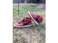 Nike blazer Red and black hightop trainers
