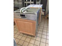 Integrated dishwasher fridge and freezer