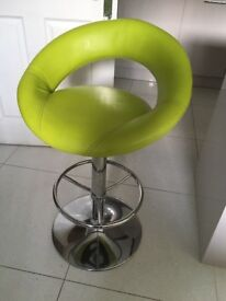 Kitchen bar stools in lime green