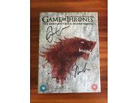 Game Of Thrones Signed DVD Boxset: Emilia Clarke and Kit Harington autographs
