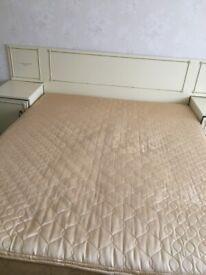 Large double divan bed