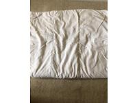 Mothercare cot bed duvet and clevamama breathable pillow