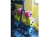 PHYSICAL COMPANY OLYMPIC DISC WEIGHTS SET COMMERCIAL GRADE KIT £300