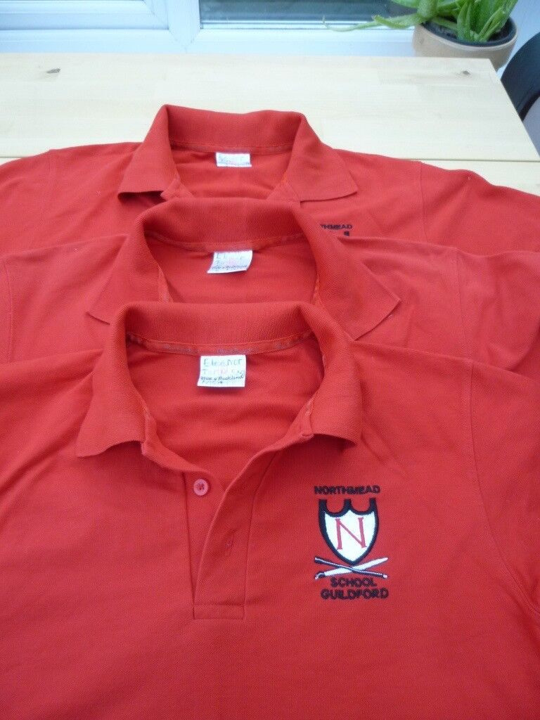 Northmead Junior School Polo Shirts X 3 Size Small 39 Chest 5