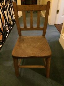 Authentic Victorian school chair