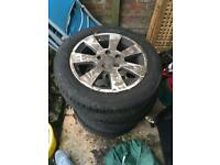 Audi alloys with new tyres