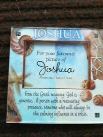 Joshua Named Picture Frame Fridge Magnet