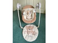 Mothercare baby seat with auto swing, music and toybar