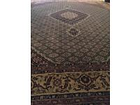Persian Rug - Mahi Isfahan | 13ft x 10ft | Gold & Green | RRP £2,800 | Free Delivery