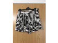 H&M striped shorts size 12