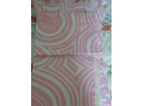 """Pair girl bedroom pair of curtain with lined back loop with buttons 56 """"W X 54 """" L"""