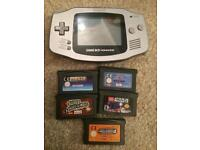 Silver gameboy advance and games