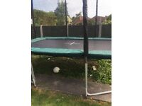 Massive 12ft by 8ft Galvanised Steel Rectangular Trampoline.