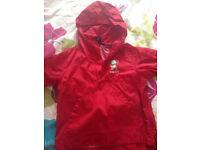 Next Girls/ Boys Red Raincoat 2-3Yrs Ex con