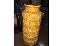 Delightful SCHEURICH West Germany Pottery 268-40 Floor Standing Vase - Retro Lava Vase