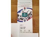 England vs. Argentina Today at Twickenham - face value
