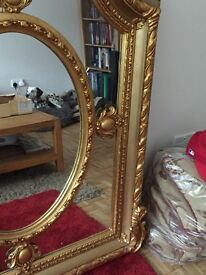Stunning big gold mirror ornate fireplace hall hotel chimney bedroom fabulous bespoke design