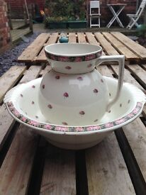 Large vintage jug and bowl