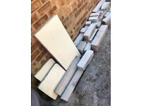 York stone dismantled fireplace for garden use