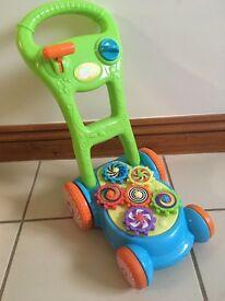 Children's toy lawnmower Christmas present Drayton