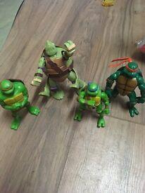 Turtles Figures (including a transformer figure)