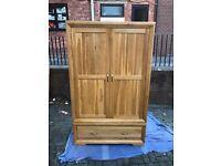 Solid Oak Wardrobe - Oak Furniture Land - Bevel