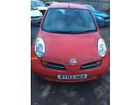 2003 NISSAN MICRA 3 DOOR HATCH RED PETROL MANUAL