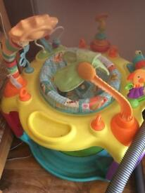 Baby jumping activity table