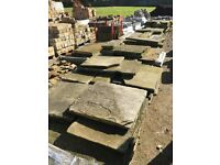 Old Reclaimed York Stone paving