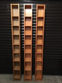 CD OR DVD BOOKCASE STORAGE UNITS X 3 FROM IKEA
